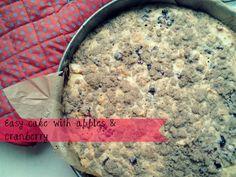 EASY, FAST CAKE WITH APPLES & CRANBERRY. CHECK ON www.gotowanietokochanie.blogspot.com