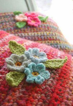 Lovely crochet cushions.