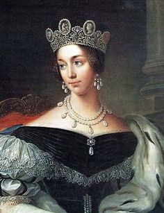 Queen Josephine wearing the cameo Tiara