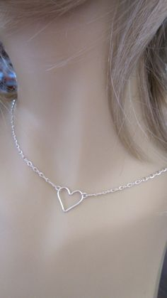 Sterling silver heart necklace  sterling by AlwaysPrettyThings, $26.10 --I hope my hubby gets this for me for Valentines Day!!!--