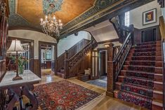 A beautiful and colorful house in Denver City Bedrooms, 5 Full Baths, 6 Partial Baths in Square Feet area) Beautiful Buildings, Beautiful Homes, Cottage Style Homes, Old World Style, Victorian Homes, Victorian Interiors, Historic Homes, Interior Architecture, Interior Design