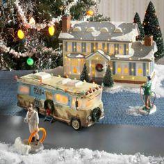 Dept 56 Snow Village Christmas Vacation Griswold House Dad RV Cousin Eddie 4 Set | eBay