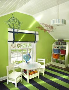 Charming Cape Cod- green childrens room