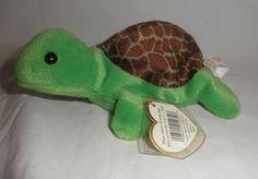 Original TY Beanie Babies Speedy the turtle W tags retired #Ty
