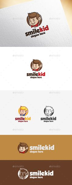 Smile Kid	 Logo Design Template Vector #logotype Download it here: http://graphicriver.net/item/smile-kid-logo-template/14428711?s_rank=1799?ref=nesto