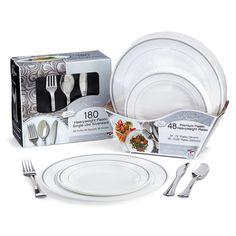 Masterpiece Premium Plastic Heavyweight Plates, Combo Pack (48 ct ...