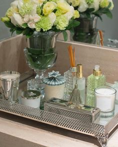 ▷ ideas for a stylish and modern bathroom decoration - Home Accessories Trend Bathroom Counter Decor, Spa Bathroom Decor, Bathroom Storage Units, Bathroom Organisation, Diy Bedroom Decor, Home Decor, Bathroom Caddy, Bathroom Stuff, Perfume Organization