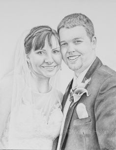 Miranda + Brad | Melissa Helene Fine Arts + Photography 8x10 graphite portrait www.melissahelene.com #artwork #graphite #portrait #drawing