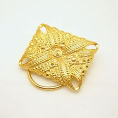 Vintage Textured Beaded Gold Plated Scarf by MyClassicJewelry, $34.95