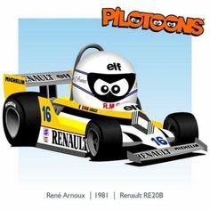 Print on Canvas Renault 1981 René Arnoux by BM Mclaren Mp4, F 1, Formula One, Auto Racing, Motogp, Hot Wheels, Race Cars, Chibi, Canvas Prints