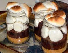 mason jar smores recipe