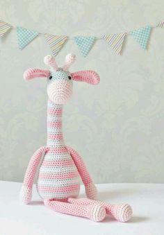 Ravelry: Amigurumi Giraffe pattern by Alison North Crochet Amigurumi, Amigurumi Patterns, Amigurumi Doll, Crochet Toys, Knitting Patterns, Giraffe Toy, Giraffe Pattern, Pink Giraffe, Granny Square Häkelanleitung