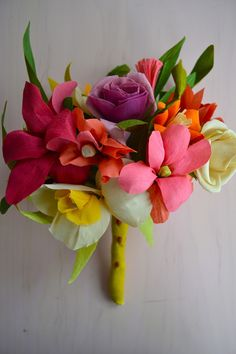 Jodi Levine crepe paper bouquet.