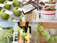 I also like the idea of apples as place cards/centerpiece items