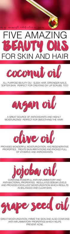 5 AMAZING BEAUTY OILS FOR SKIN AND HAIR! And learn what they are for and how to use them!