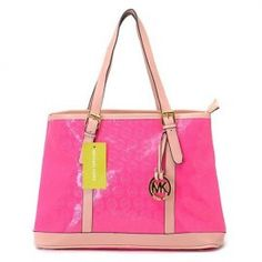 """Michael Kors Amangasett Straw Large Pink Totes Outlet Size:14"""" x 11"""" x 5 -Signature leather -Golden hardware -Hanging logo charm -Double handles; top zip closure -Fabric lining -Inside zip, cell phone and multifunction pockets -Flat bottom with feet to protect bag when set down"""