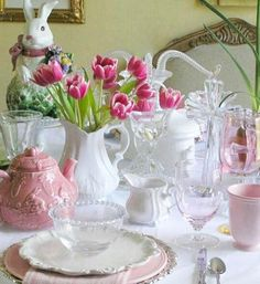 Spring Easter tablescape - pic only