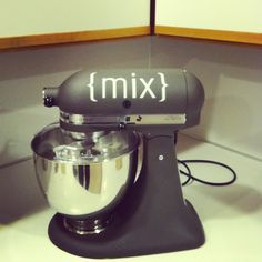 kitchenaid with decal