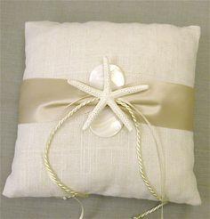 Ring Bearer Pillow Beach Weddings Starfish by SeashellCollection, $45.00