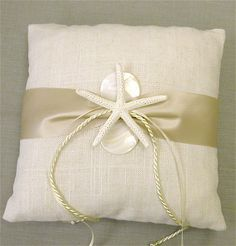 Ring Bearer Pillow Beach Weddings Starfish by SeashellCollection, $45.00