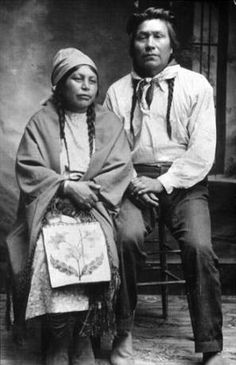 Colville couple Charlie and Margaret Moses, Washington :: American Indians of the Pacific Northwest -- Image Portion