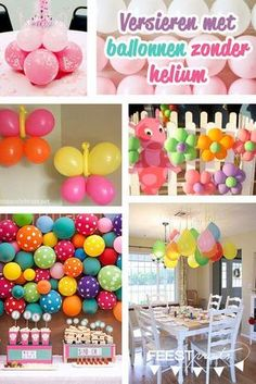 versieren met ballonnen zonder helium Kids Birthday Presents, Birthday Party Decorations For Adults, 50th Birthday Party, Diy Party Decorations, Diy For Kids, Crafts For Kids, Party Invitations, Party Favors, Happy B Day
