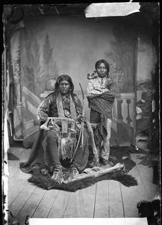 Mescalero Apache Ignacio and his son, Albuquerque, New Mexico, June 14, 1882. Palace of the Governors Photo Archives 015878.