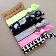 The Sasha Hair Tie-Ponytail Holder Collection - 6 Elastic Hair Ties by Elastic Hair Bandz on Etsy