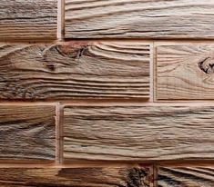 Brick effect in wood Wooden Wall Panels, Wooden Walls, Wood Wall Decor, Wood Wall Art, Wooden Staff, Sauna Design, Wood Mosaic, Into The Woods, How To Antique Wood