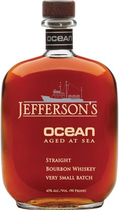 Jefferson's Ocean Aged at Sea Kentucky Straight Bourbon. This limited-edition #bourbon #whiskey was aged for nearly a decade on land before being matured aboard a ship. | @Caskers