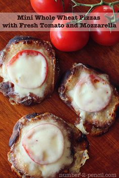 Whole wheat toast with mozzarella and tomato. | recipes | Pinterest ...