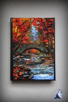 Polymer clay cover notebook/ journal cover by ArtisticVariations84