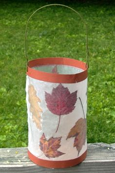 Leaf Lantern – found this in a wonderful book called Earthways. You press autumn… Leaf Lantern – found this in … Autumn Crafts, Autumn Art, Nature Crafts, Thanksgiving Crafts, Autumn Leaves, Projects For Kids, Art Projects, Crafts For Kids, Arts And Crafts