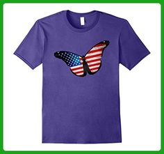 Mens American Butterfly T-shirt 4th of July Patriotic National XL Purple - Animal shirts (*Amazon Partner-Link)
