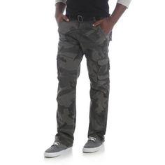 Wrangler Jeans Co. Men's Cargo Twill Pants, Black
