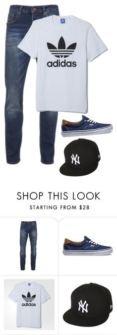 """""""My daddy's outfit"""" by beaholiveira ❤ liked on Polyvore featuring Scotch & Soda, Vans, adidas, New Era, men's fashion and menswear"""