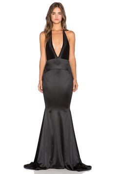 Gemeli Power Las Lasciiv Gown in Shiny Black