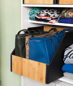 Protect Your Handbags | It's time to tackle your messy, cluttered closet. Here, we show you how to do it one day at a time.