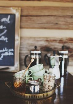 coffee bar; a must