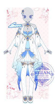 Anime Girl Dress, Anime Girl Cute, Drawing Anime Clothes, Dress Drawing, Manga Anime, Anime Art, Anime Kimono, Blue Anime, Anime Drawings Sketches