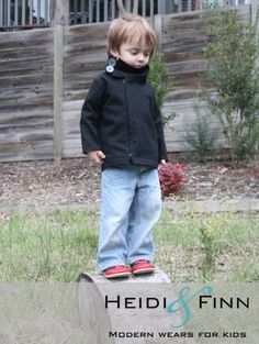 NEW Urban Weekender Coat pattern and tutorial 12M - 5T PDF pattern boy girl modern zipper jacket cowl