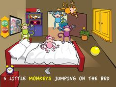 Five Little Monkeys Jumping on the Bed by Loeschware Review & Giveaway