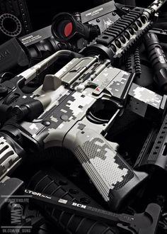 AR-15 I want one dipped in digital Blue!!!