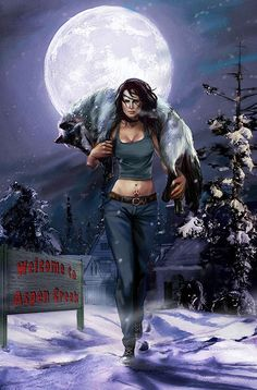 Concept art for Patricia Briggs's Mercy Thompson graphic novel Moon Called: volume 1