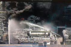 Um incêndio de grandes proporções arde nos tanques da Refinaria de Duque de Caxias (Reduc) na tarde desta quarta-feira.   Uma Corporação de...
