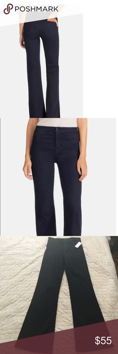 NWT J Brand high waist tailored flare leg NWT J Brand high waist tailored flare leg in inkwell. J Brand Jeans Flare & Wide Leg