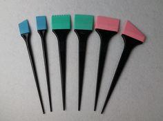 シリコーン毛染料着色ブラシ毛毛染めカラーブラシスタイリングアクセサリーGIC-HA606B櫛毛染料(6ピース/セット)