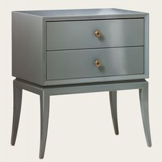 Bedside table two drawers with brass pulls in lacquer Furniture | Lacquer Furniture | Chelsea Textiles