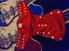 Knicker nappies red reusable cloth snap diaper