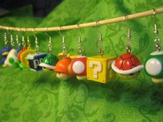 Super Mario Earrings Coin by Jirges on Etsy